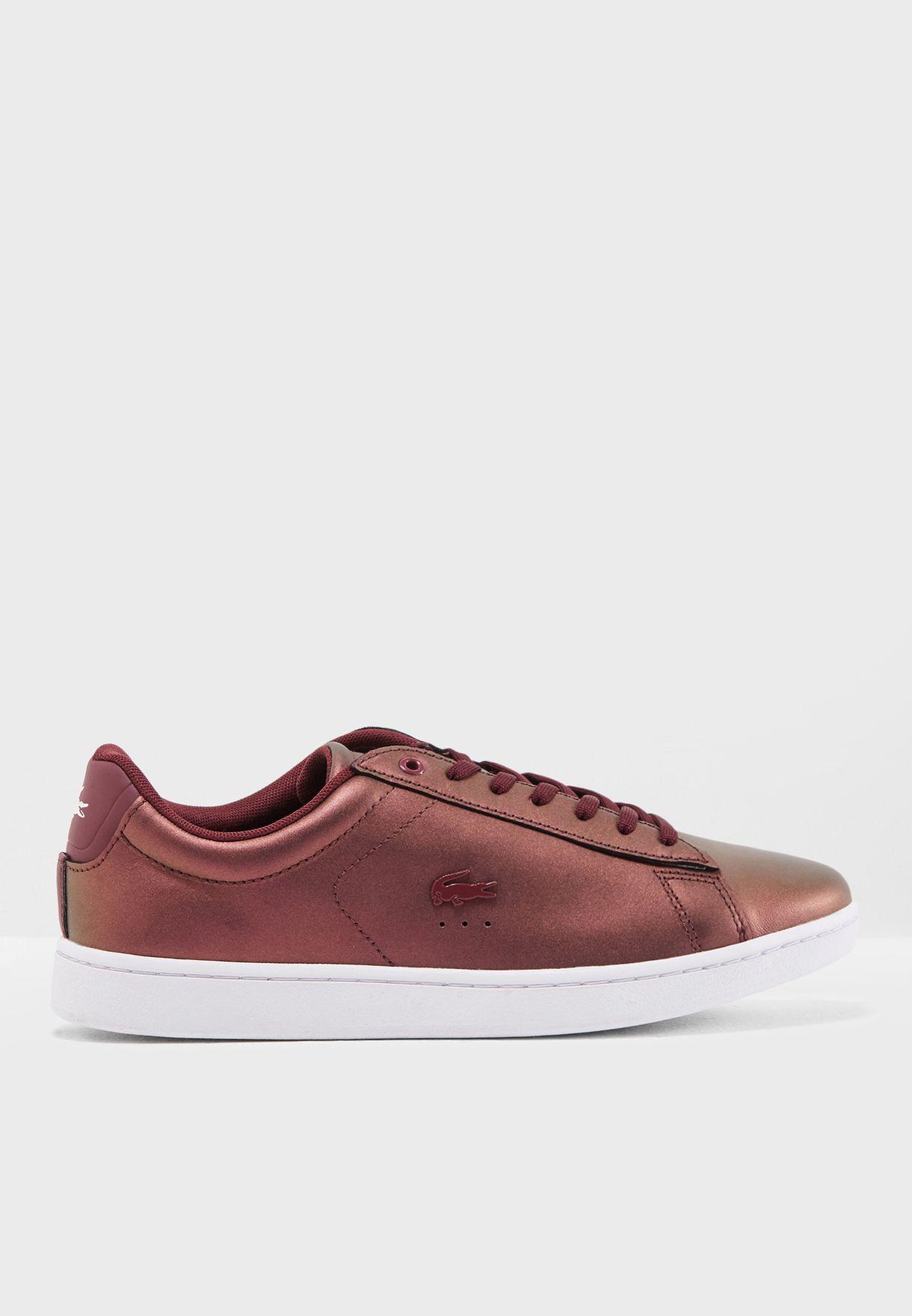 2034390fdf5c Shop Lacoste burgundy Carnaby Evo 318 5 Spw Sneaker 736SPW0013 for Women in  Bahrain - LA014SH93YYK