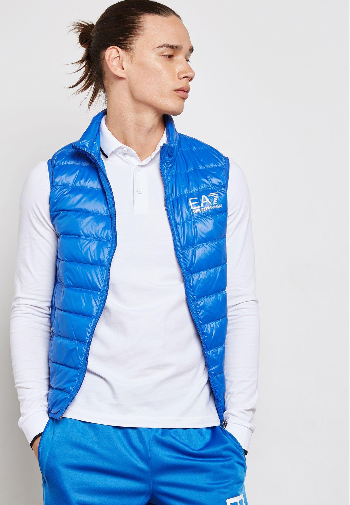 0fb7eb5552566b Shop Ea7 Emporio Armani blue Train Core Jacket PN29Z-8NPQ01-1598 for ...