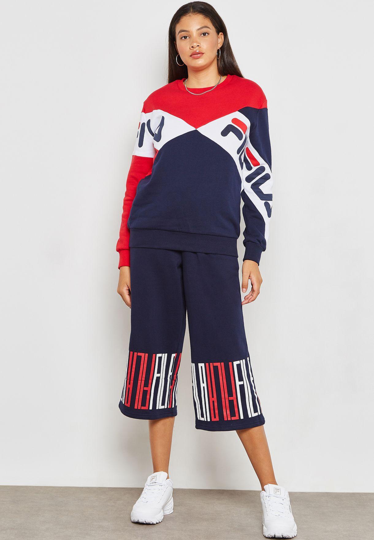 f8b290e01ca2 Shop Fila multicolor Lidia Boyfriend Sweatshirt LW183Y54-410 for ...