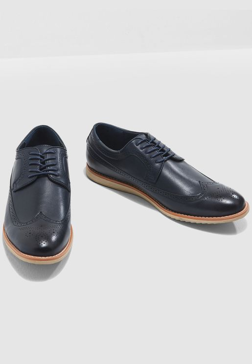 Wing Cap Brogue Casual Lace Ups