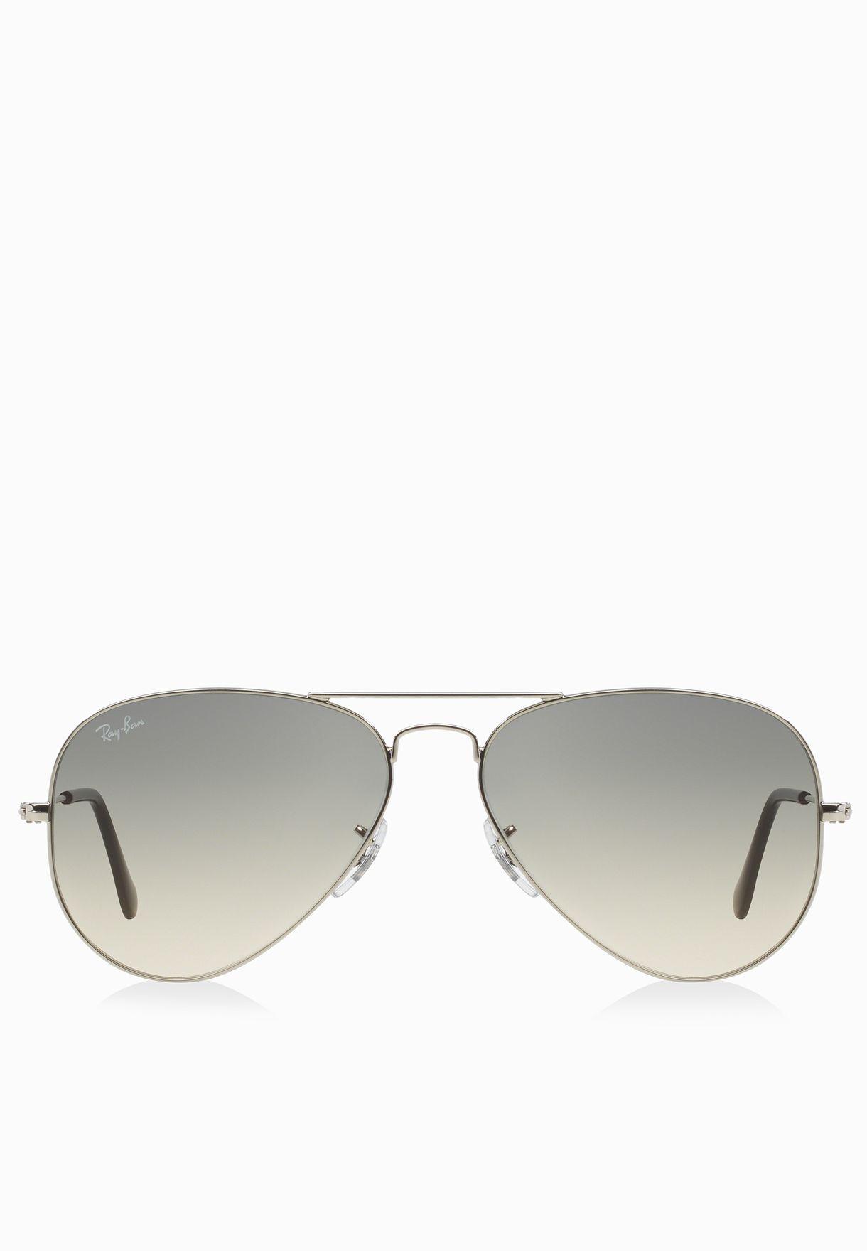 176fe894b تسوق نظارة شمسية افياتور متدرجة اللون ماركة ريبان لون فضي ...