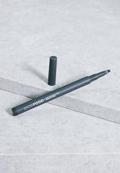 قلم بثلاث ريش للحاجب - فحمي داكن