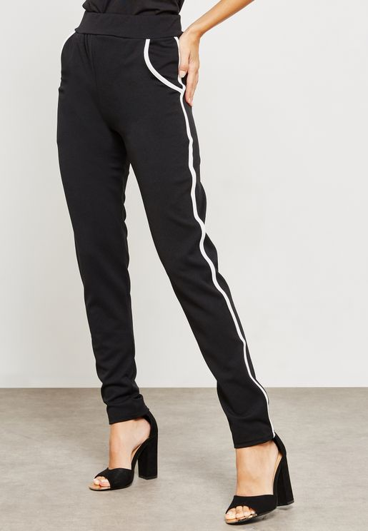 Side Striped Tappered Leg Pants