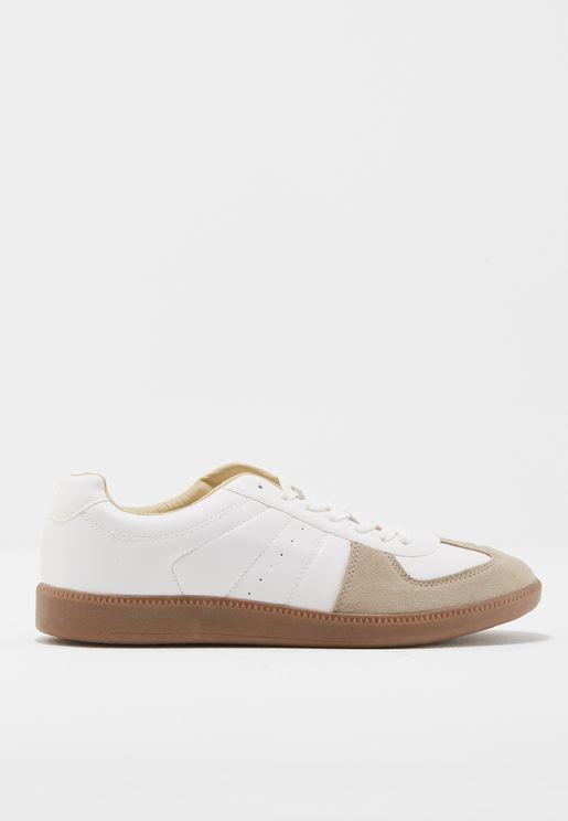 Suede Panels Sneakers
