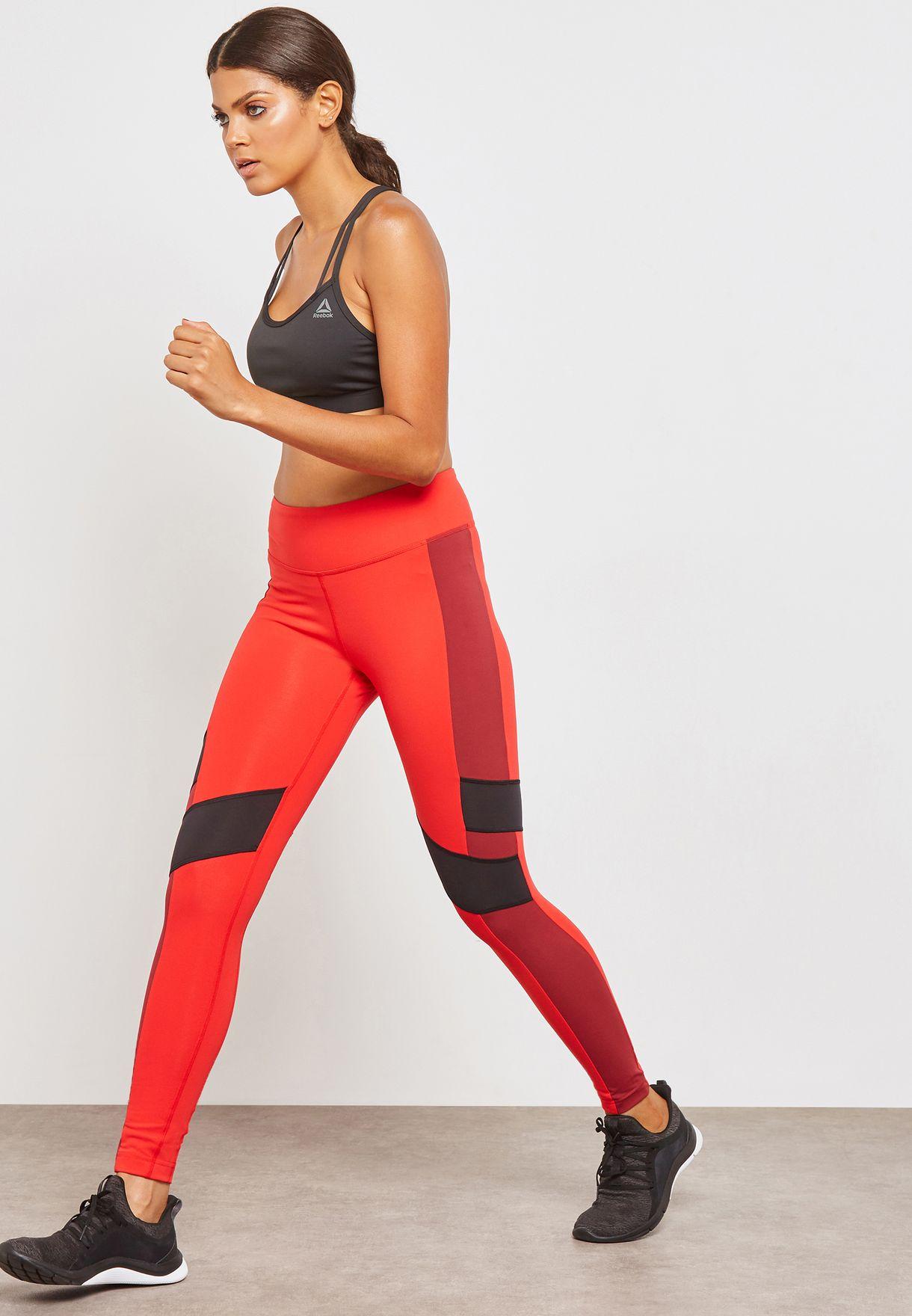 5e4bad48a87c5 Shop Reebok red Lux Leggings CF5867 for Women in UAE - RE019AT93JBA