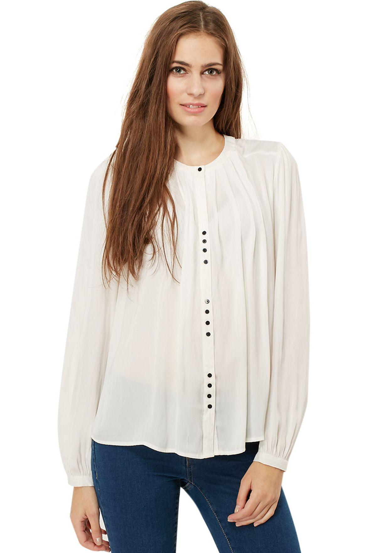 c4ac951a16217d Shop Vila pink Avanguard Detailed Shirt for Women in Bahrain ...