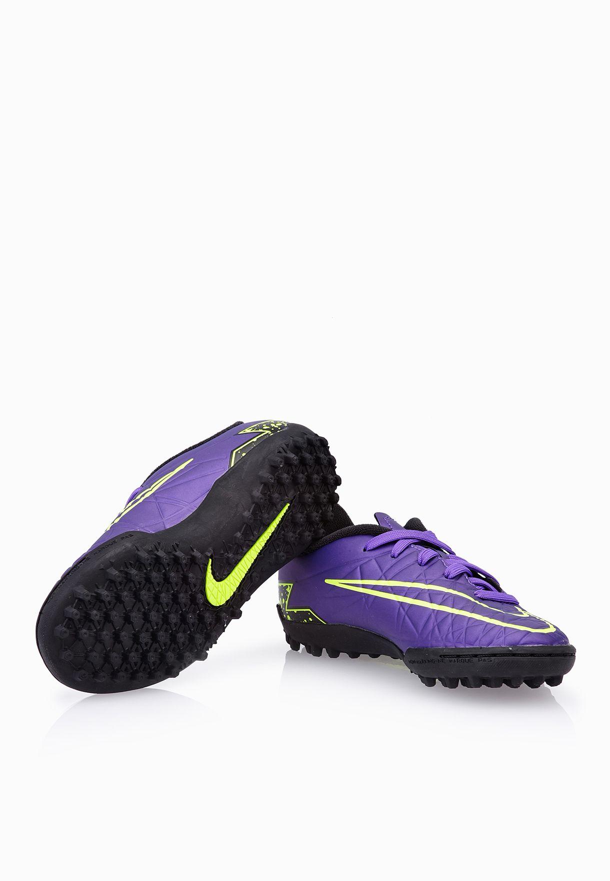 Shop Nike purple Jr Hypervenom Phelon II TF 749922-550 for Kids in ... cb54500c91bd9