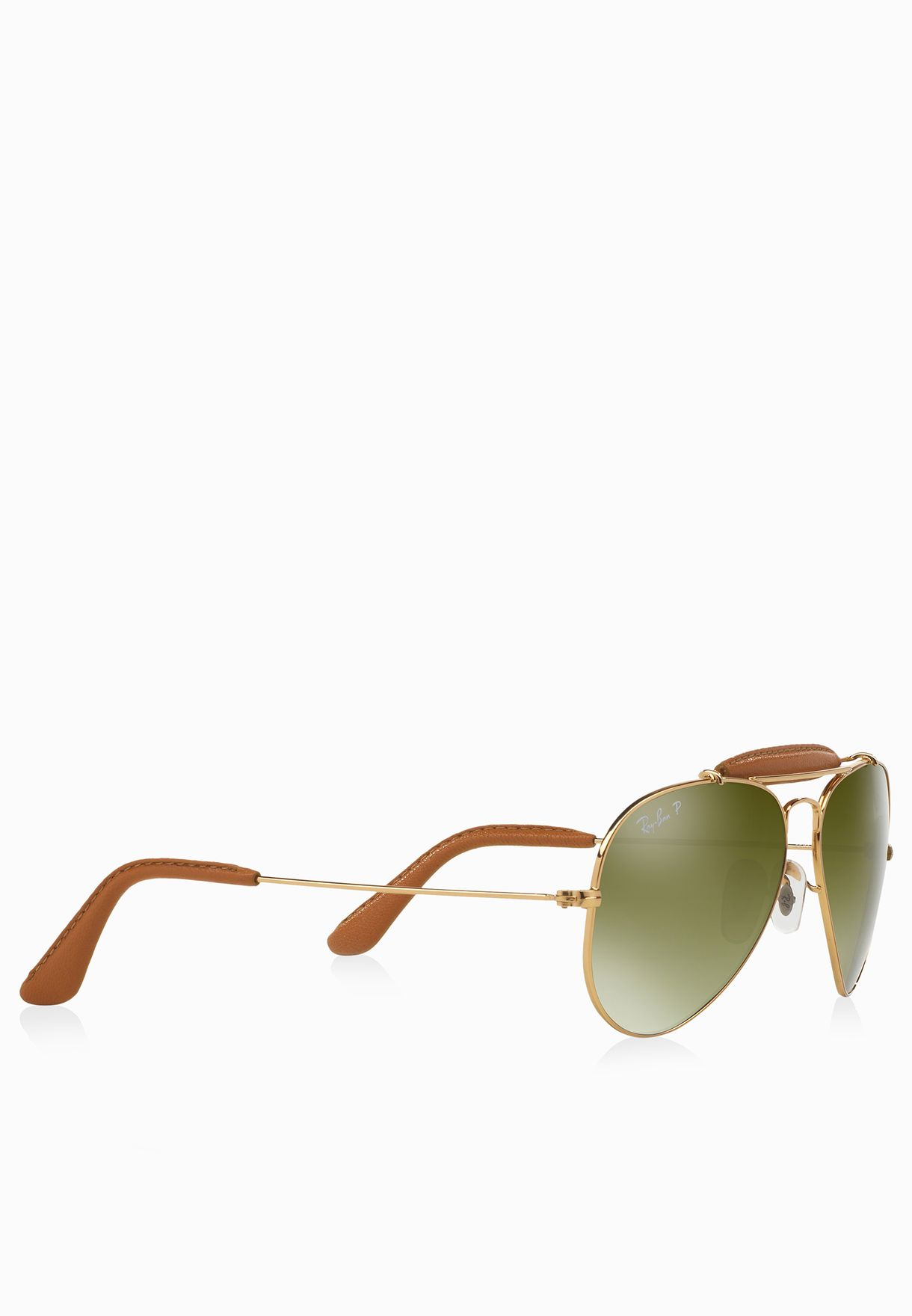 41b6e14a2c Shop Ray-Ban gold Outdoorsman Craft 805289368977 for Men in Kuwait ...