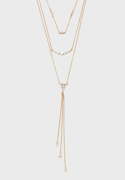 Layered Drop-Chain Necklace Set