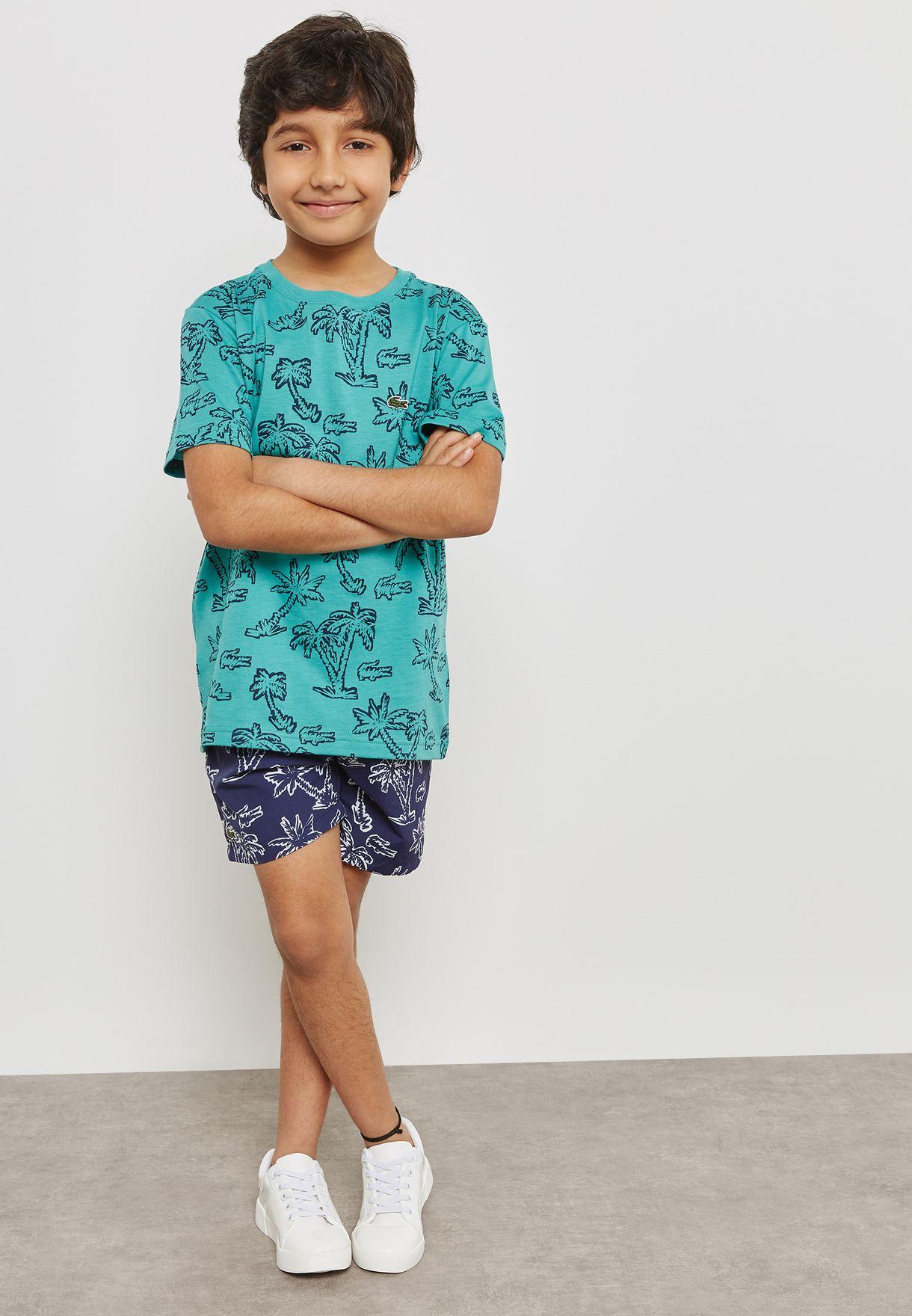 Little Printed Swim Shorts