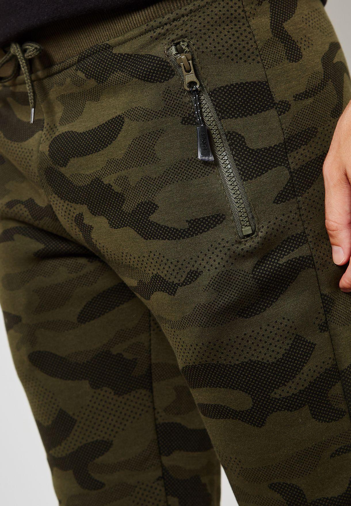 Camo Cuffed Sweatpants