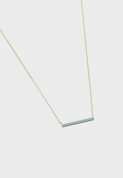 Pave Bar Short Necklace