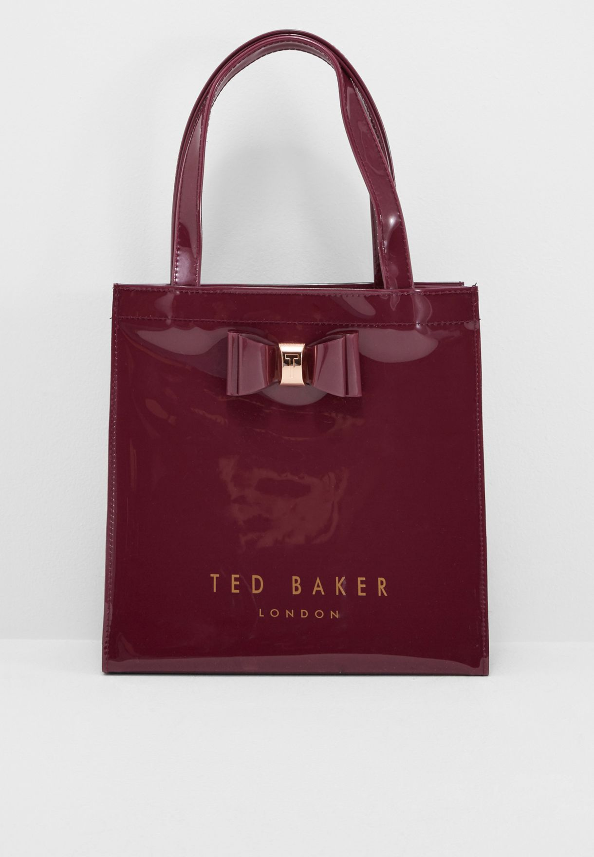 fc801ad79af9 Shop Ted baker burgundy Small Bow Detail Icon Shopper XBD2 JENACON ...