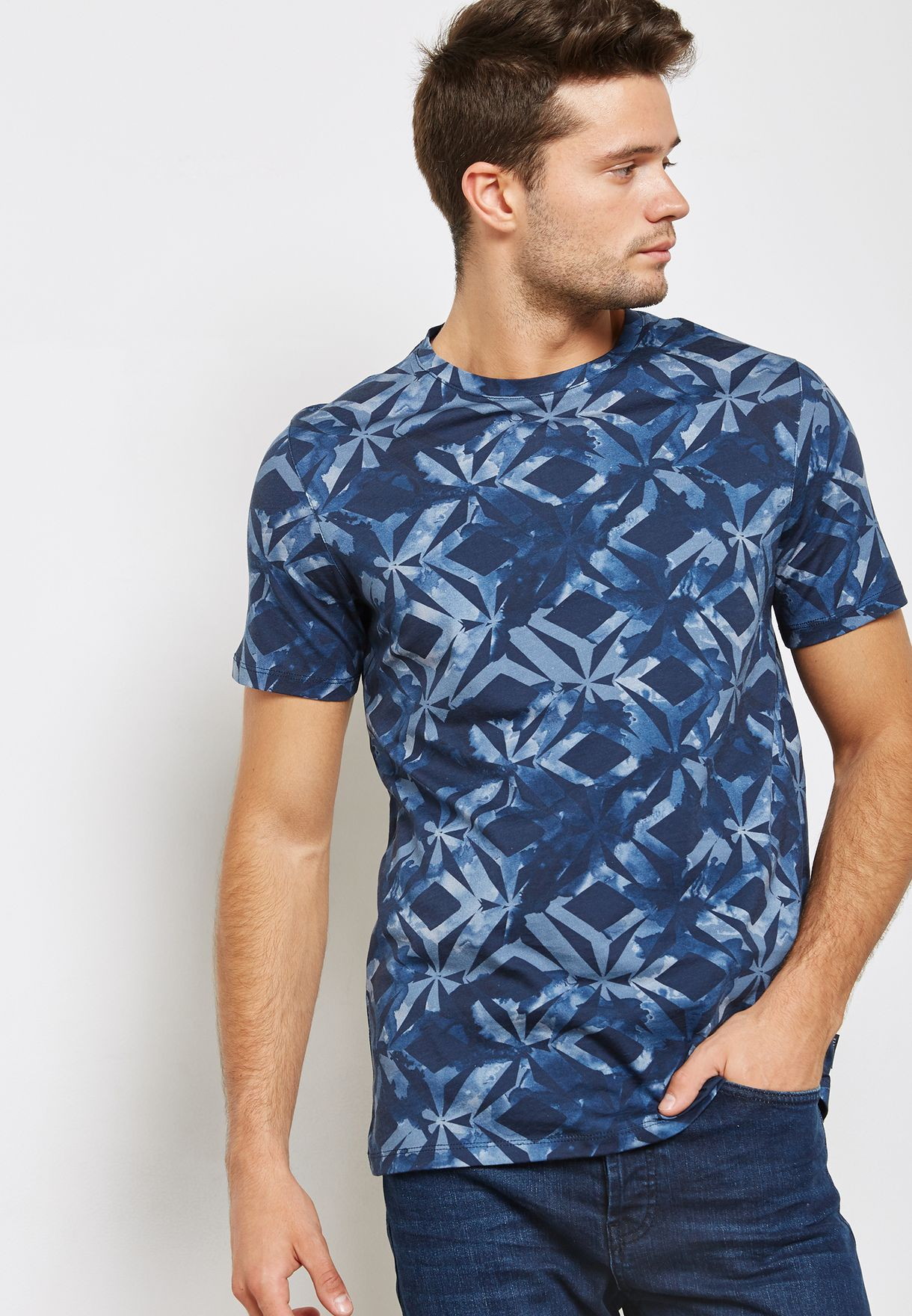 7d5e40be18b7e7 Shop Ted baker prints Woof Geo Print T-Shirt 141493 for Men in Kuwait -  TE456AT93WSW