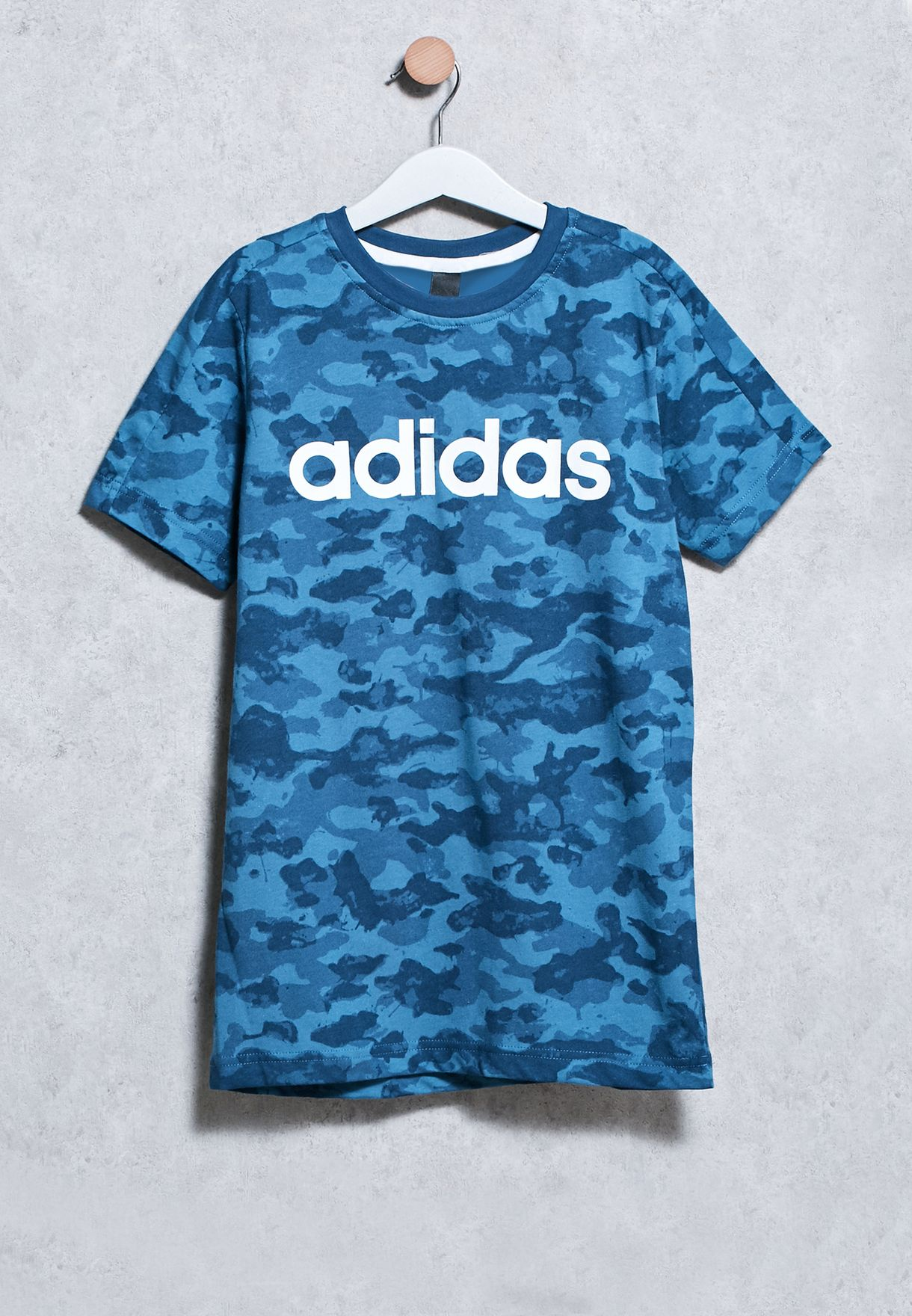 Shop adidas blue Youth Linear T-Shirt BK3470 for Kids in Qatar -  AD476AT93OBE 63ee4b606b6