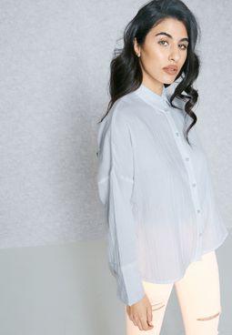 High Low Side Slit Shirt