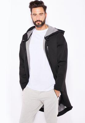 Topman Long Line Scuba Parka Jacket