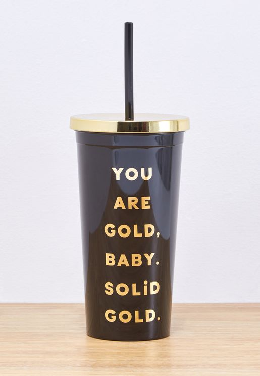 You are Gold Tumbler With Straw - 570ml