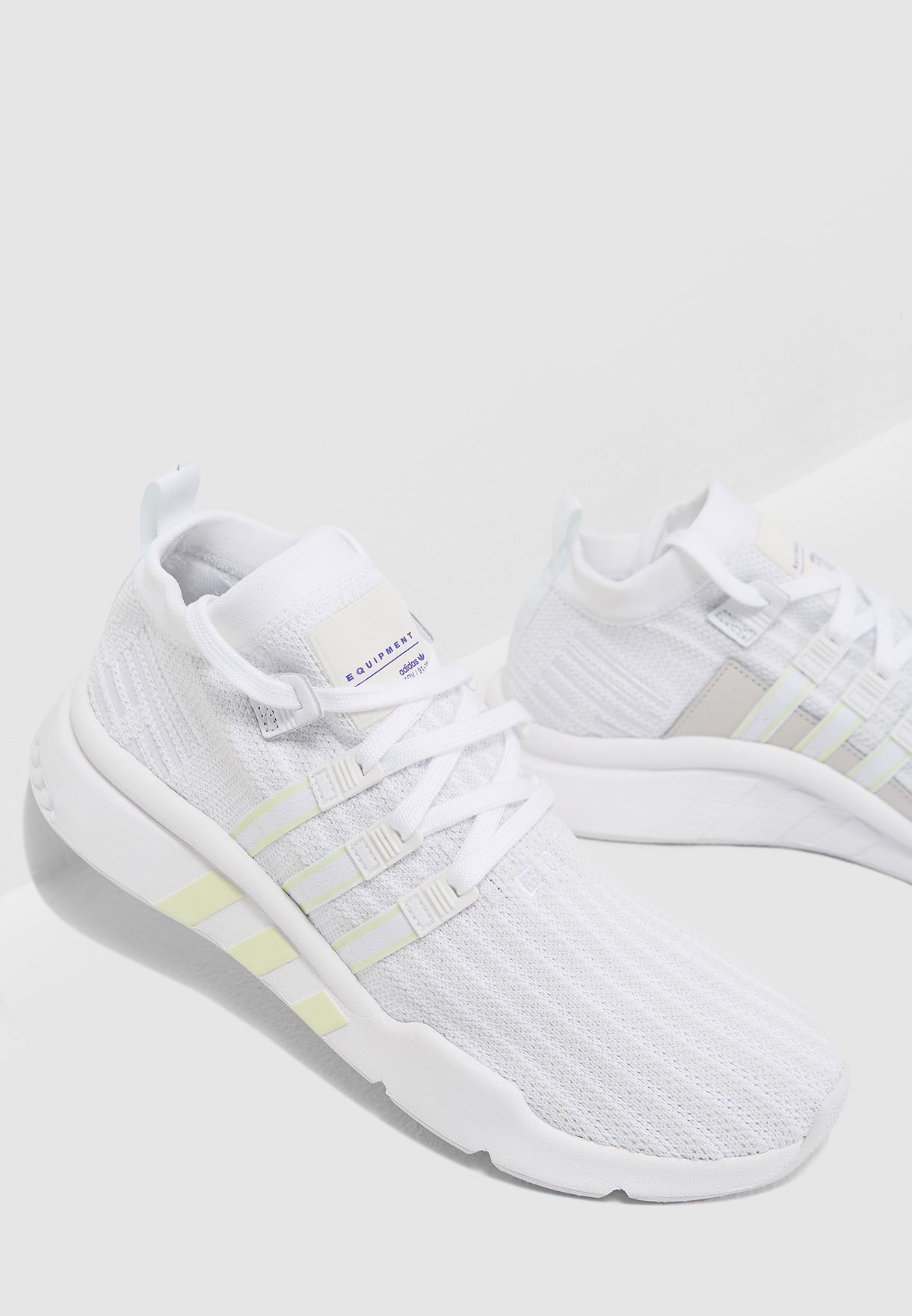 2f1ec3dbb3d5 Shop adidas Originals white EQT Support Mid ADV B37455 for Men in ...