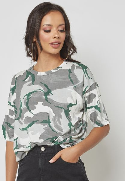 Oversized Camo T Shirt