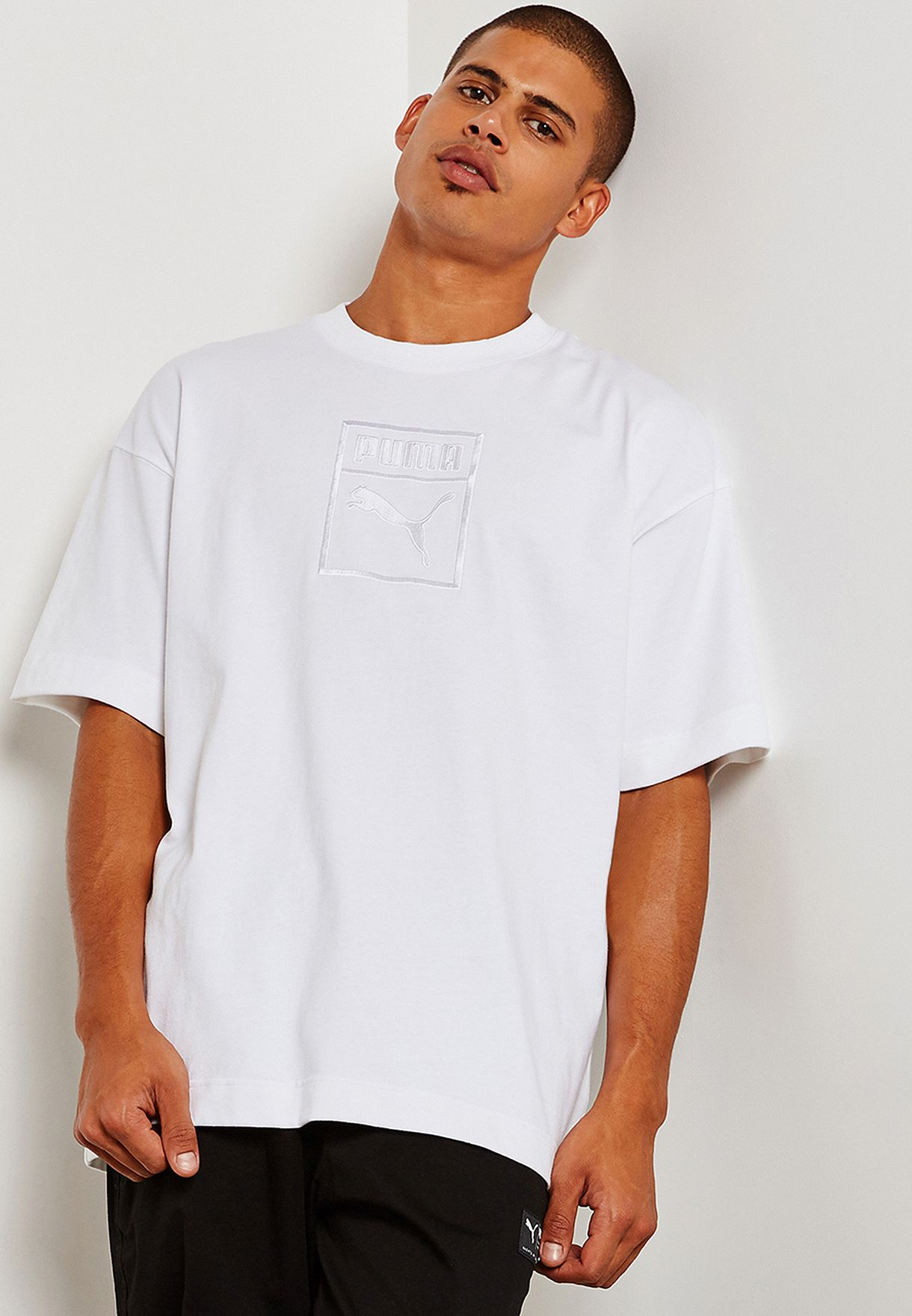 0a3a4dfee053 Shop PUMA white Downtown T-Shirt 57671202 for Men in Kuwait ...