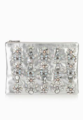 Miss Selfridge Stone Detail Clutch