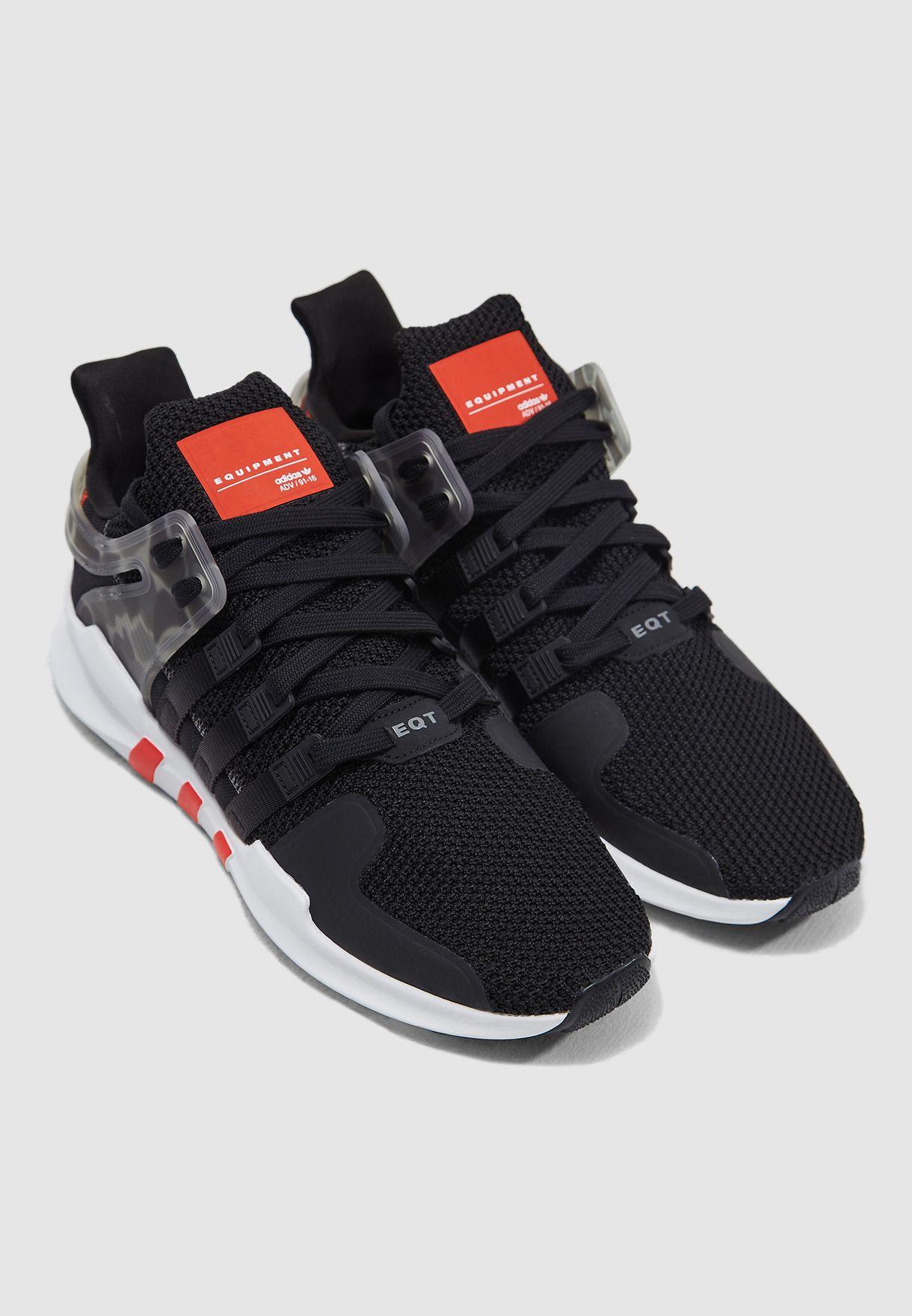 ecbbfa696b8 Shop adidas Originals black EQT Support ADV AQ1043 for Men in ...