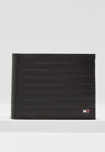 Emboss Stripe Coin Pocket Wallet