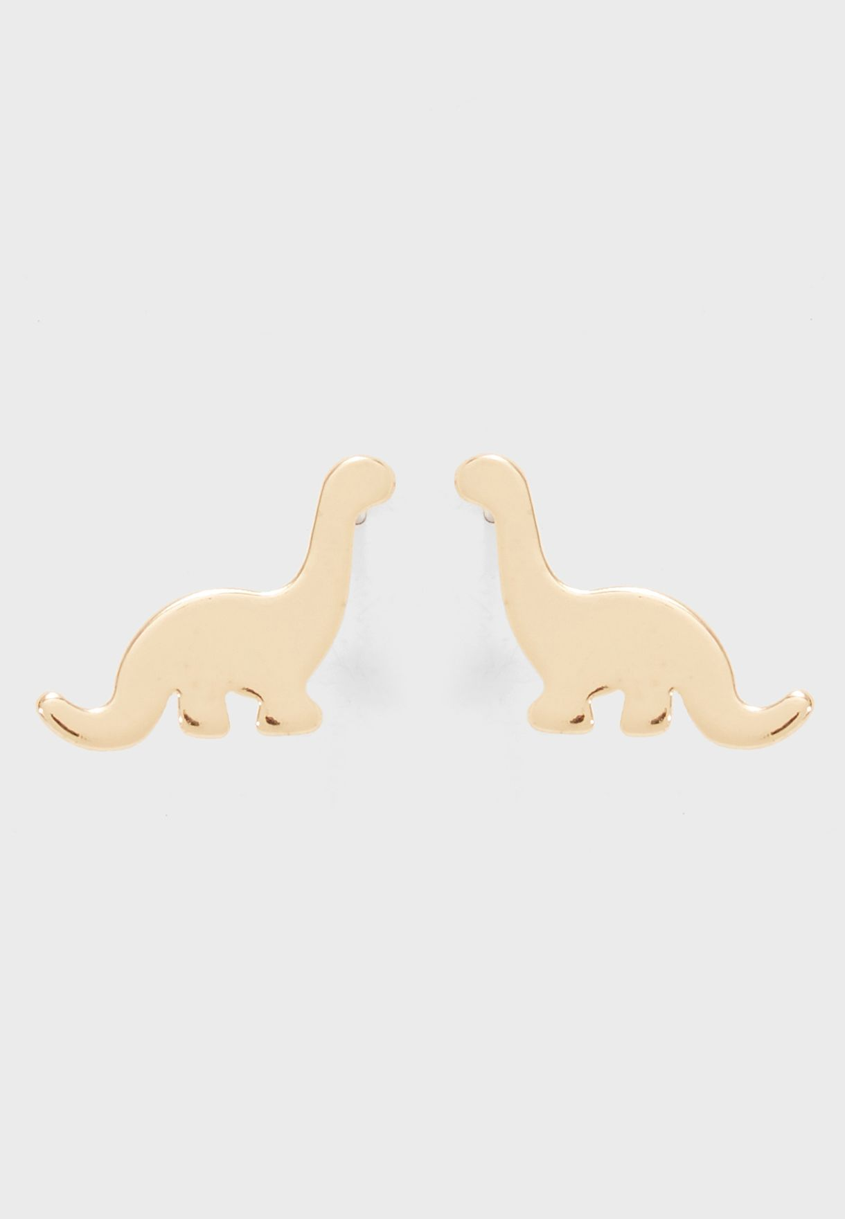 Juicy Couture Gold Tone Pave Dinosaur Stud Earrings Fashion Jewelry Watches