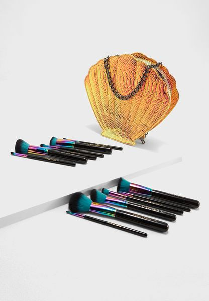 12 Pack Siren With Clam Make Up Brushes