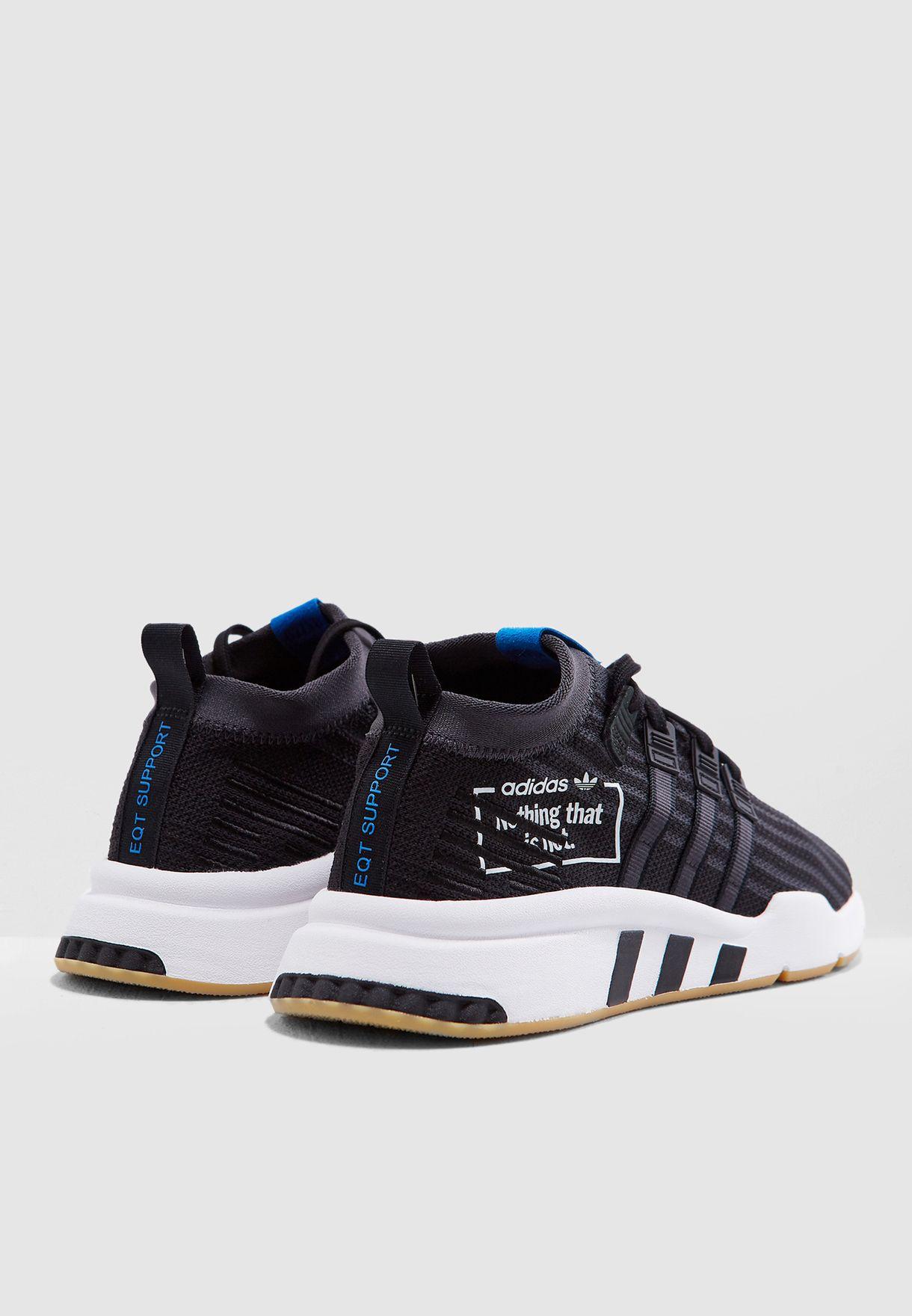 Shop adidas Originals black EQT Support