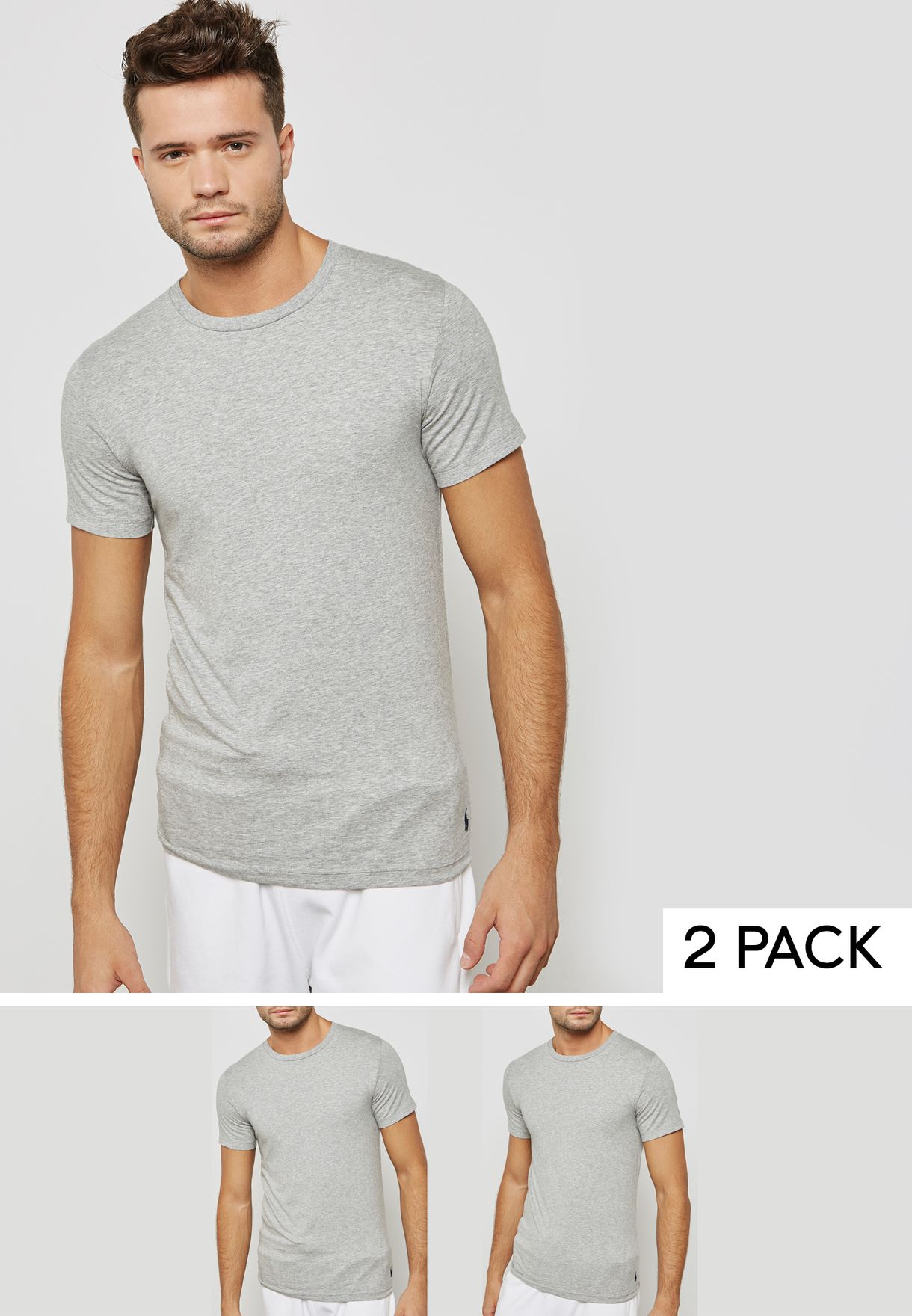 Shop Polo Ralph Lauren grey 2 Pack T-Shirt 714621944003 for Men in Kuwait -  PO013AT93RAS 62f40ce772c