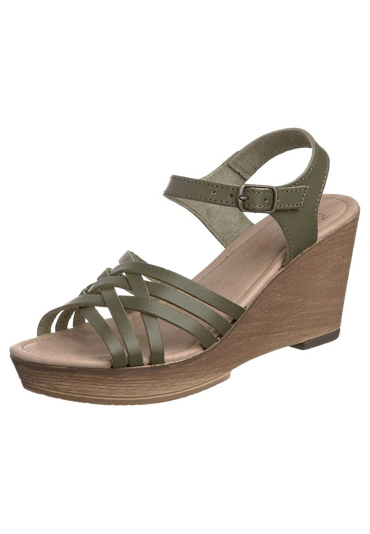 Buy green Wedge Sandals olive for Women