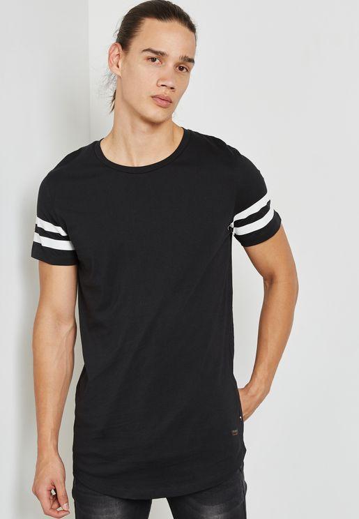 Striped Sleeves T-Shirt