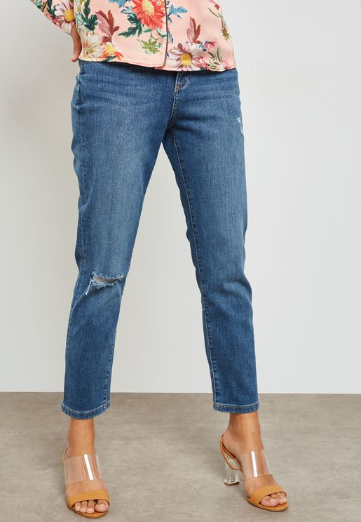 Tailor Mid Rise Ripped Jeans