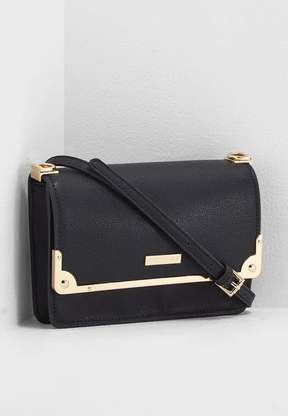 Evelyn Metal Bar Crossbody