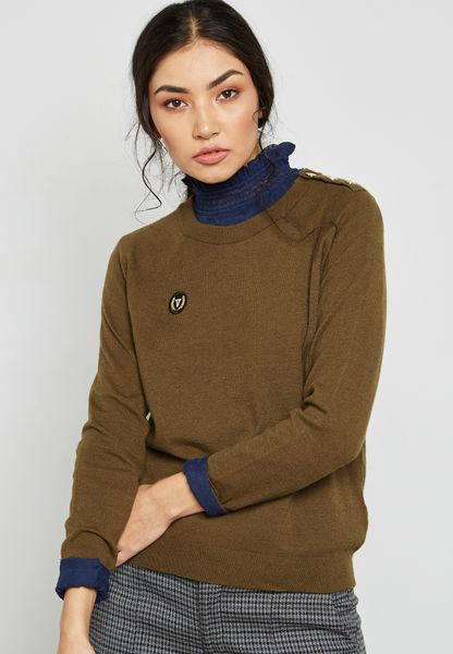 Patch Detail Sweater