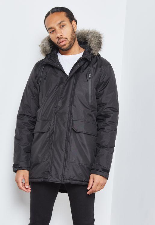 Fur Trimmed Parka Jacket