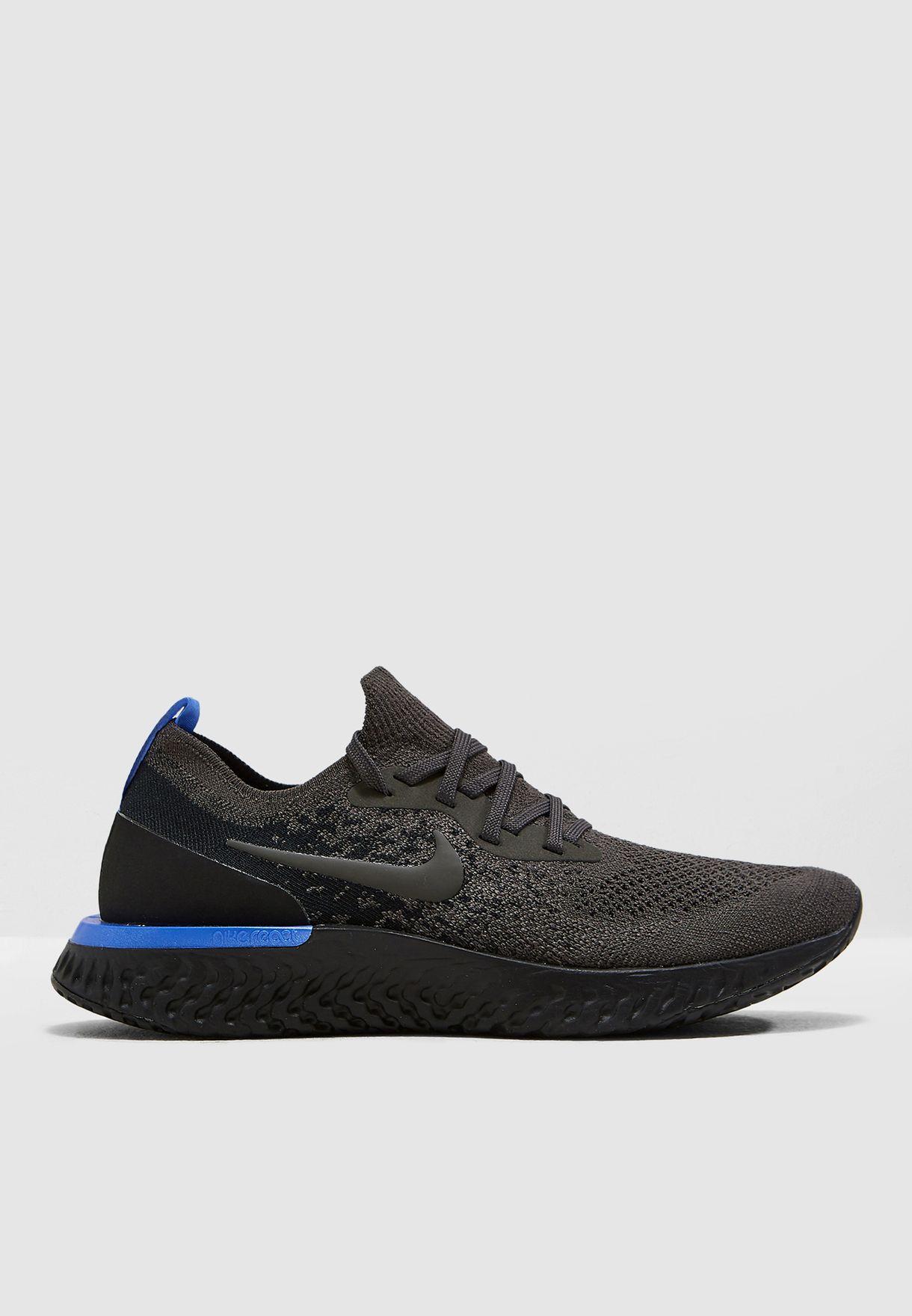 320a87c5dc22 Shop Nike black Epic React Flyknit AQ0070-012 for Women in Saudi ...