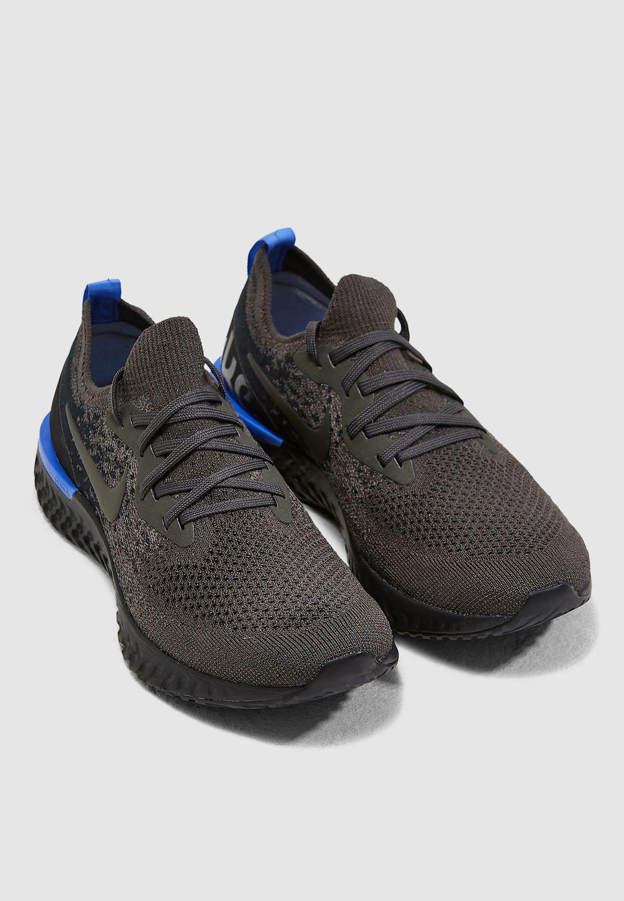 aab300c03d86 Shop Nike black Epic React Flyknit AQ0070-012 for Women in UAE ...