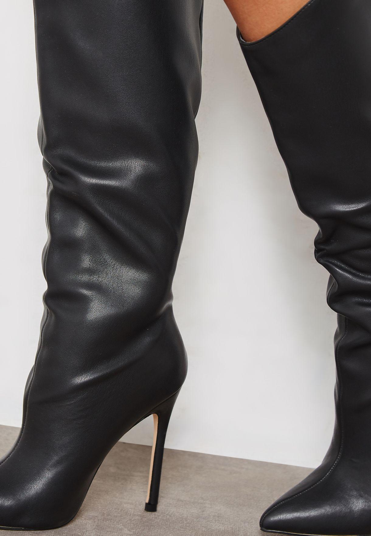 1bb6b60ffdf Shop Truffle black Tot Knee Boot TOTS1 for Women in Kuwait ...