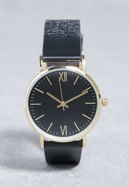 Leather Detail Watch