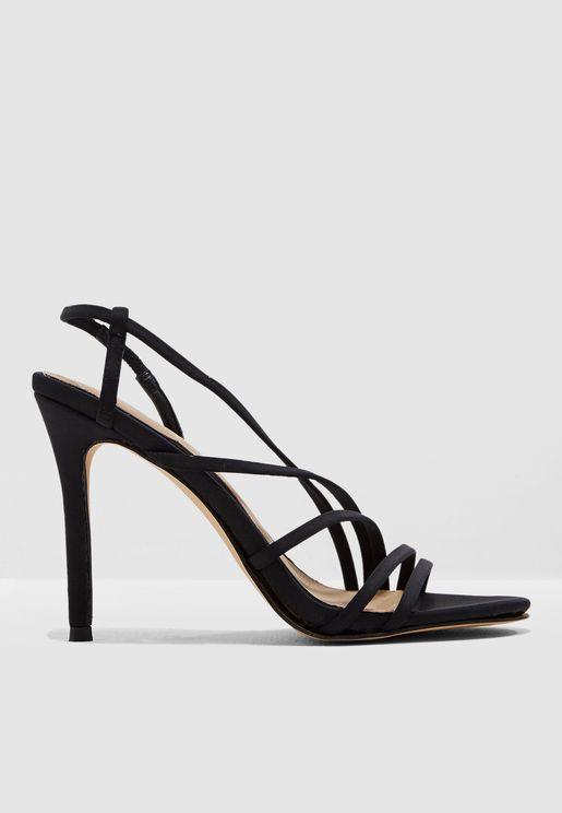Multi Strap Heel Sandal