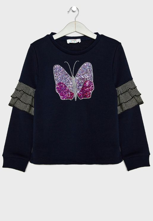 Kids Butterfly Sweatshirt