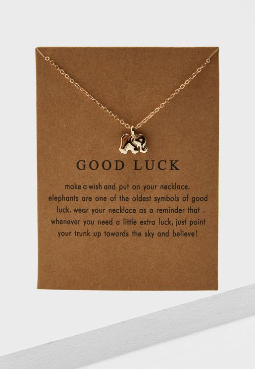 Good Luck Necklace On Card