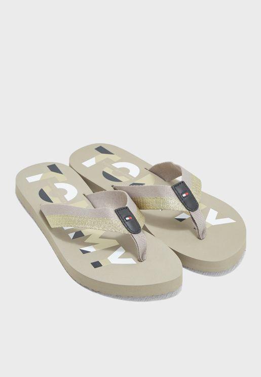 ba563c2838b7 Glitter Strap Beach Sandal. PREMIUM. Tommy Hilfiger. Glitter Strap Beach  Sandal