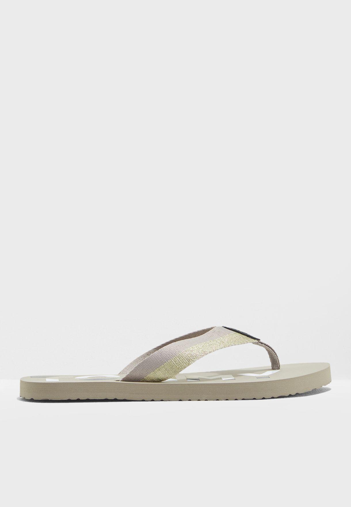 Glitter Strap Beach Sandal