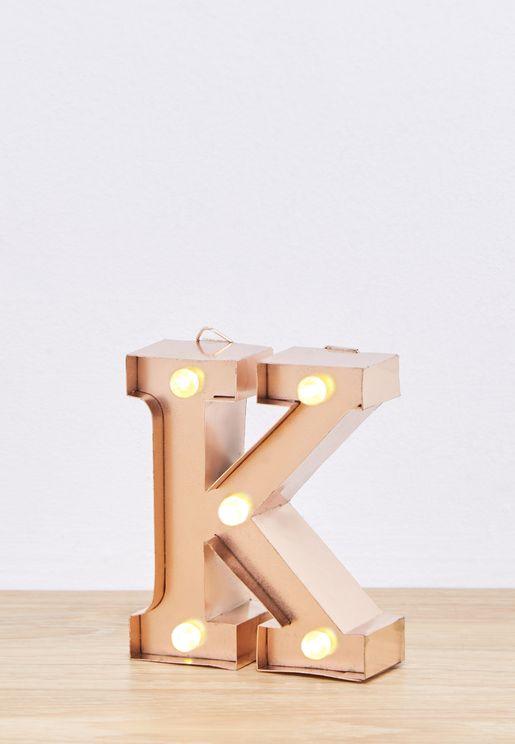 """وحدة اضاءة صغيرة بشكل حرف """"K"""""""