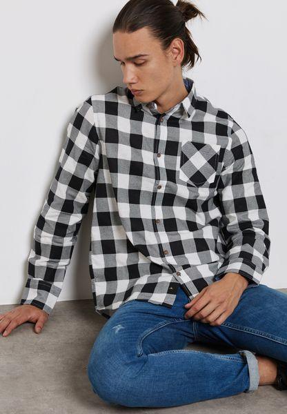 Jackf Check Print Shirt