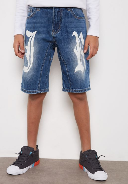 Little Logo Denim Shorts